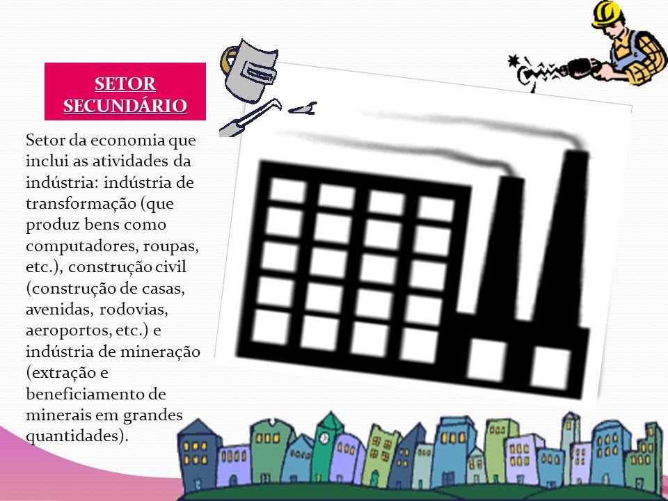 SETOR TERCIÁRIO Setor da economia que inclui as atividades do comércio e da prestação de serviços.