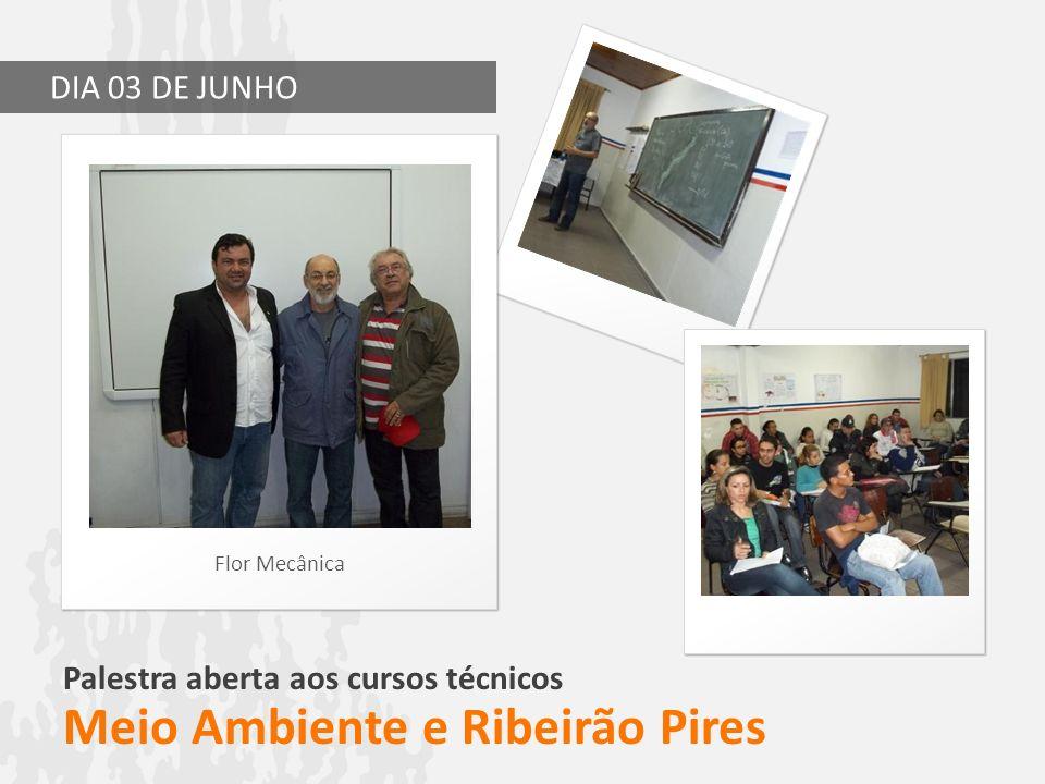 Palestra aberta aos cursos técnicos Meio Ambiente e Ribeirão Pires Flor Mecânica DIA 03 DE JUNHO