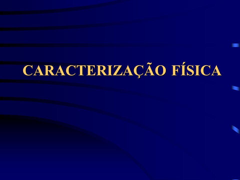 CARACTERIZAÇÃO FÍSICA