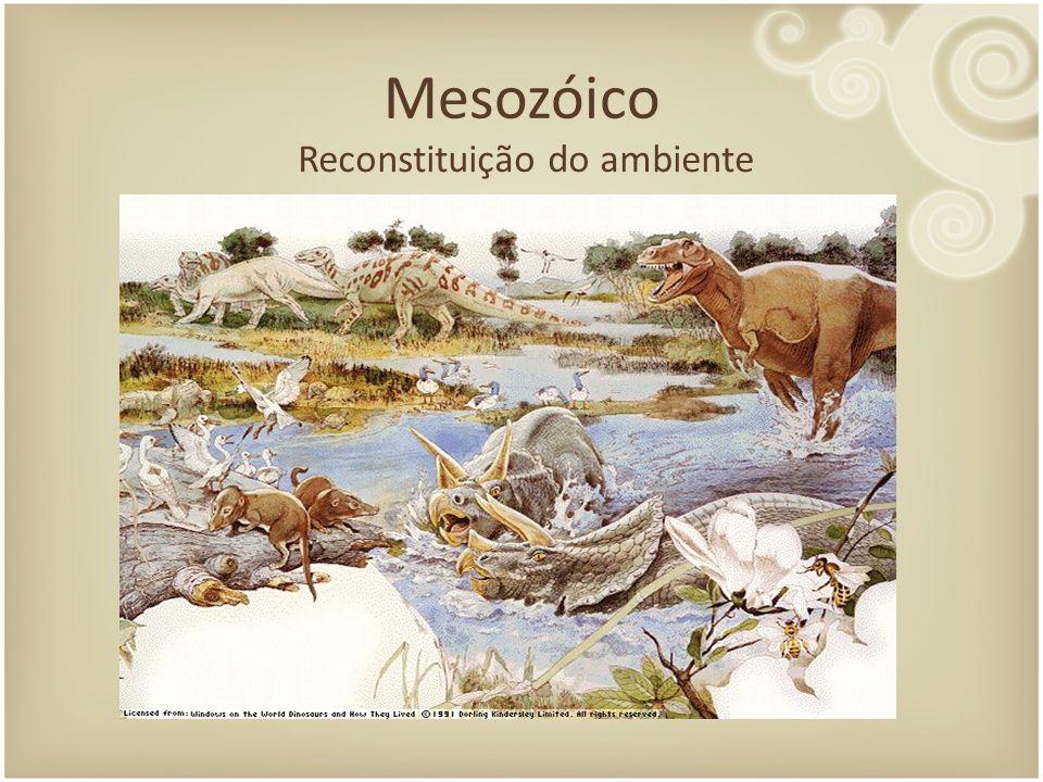 Mesozóico Reconstituição do ambiente