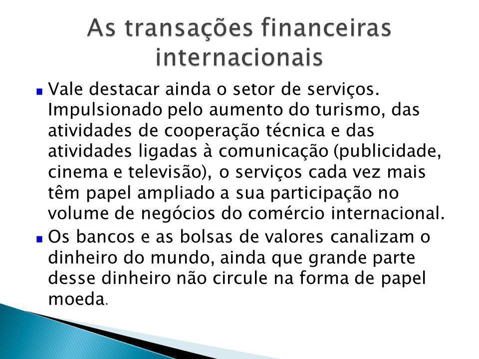 Vale destacar ainda o setor de serviços. Impulsionado pelo aumento do turismo, das atividades de cooperação técnica e das atividades ligadas à comunic