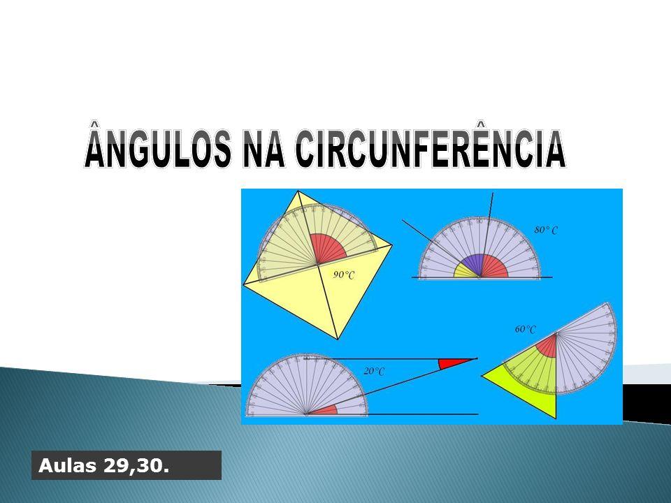 Considere um ponto P exterior ao círculo e uma reta secante e outra tangente.