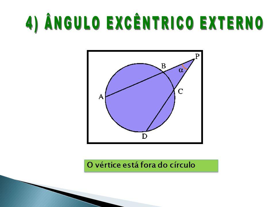 O vértice está fora do círculo