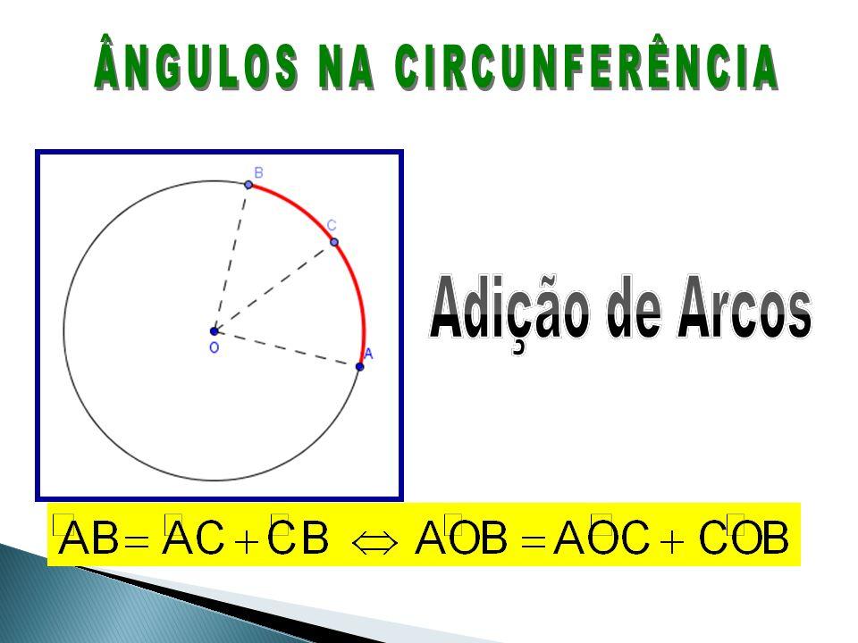 A medida de um arco de circunferência é igual à medida do ângulo central correspondente