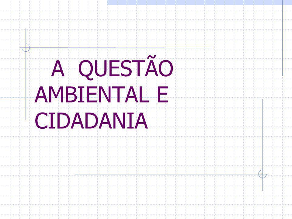 A QUESTÃO AMBIENTAL E CIDADANIA