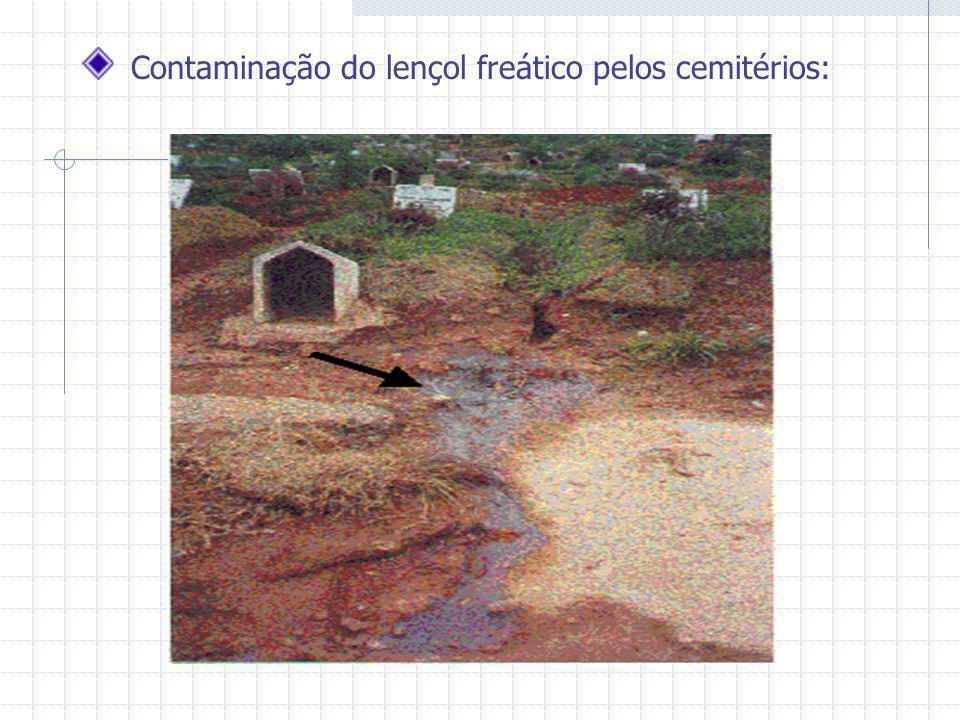 Contaminação do lençol freático pelos cemitérios: