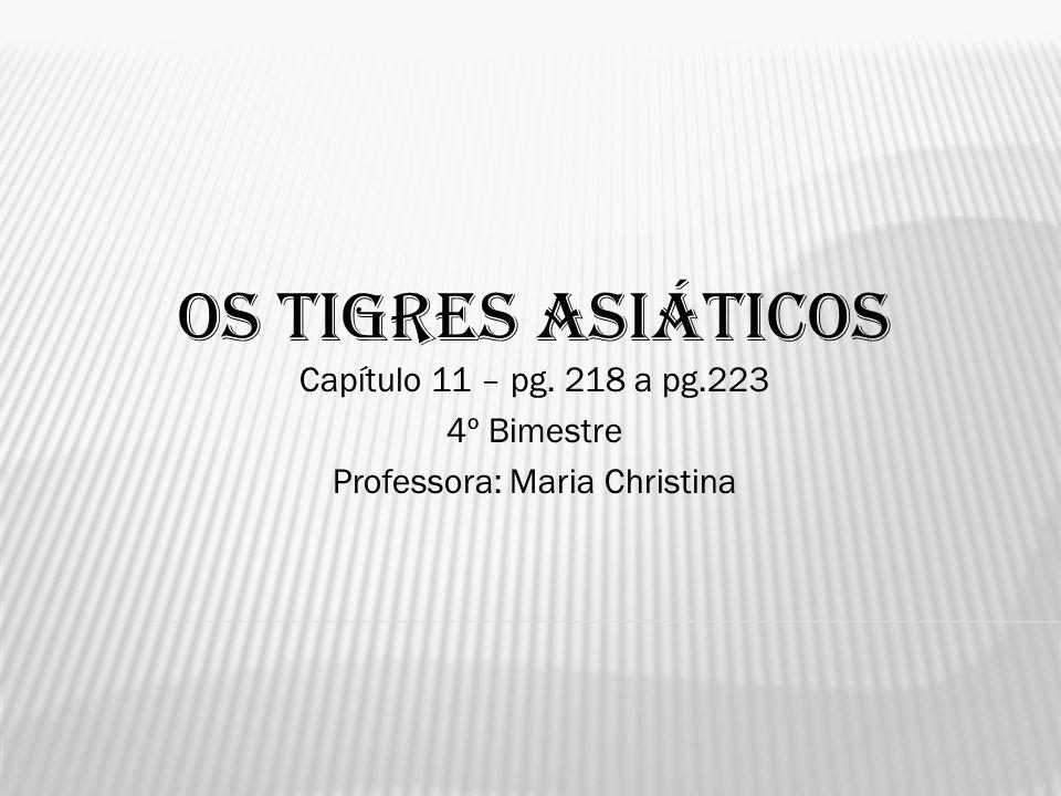 OS TIGRES ASIÁTICOS Capítulo 11 – pg. 218 a pg.223 4º Bimestre Professora: Maria Christina