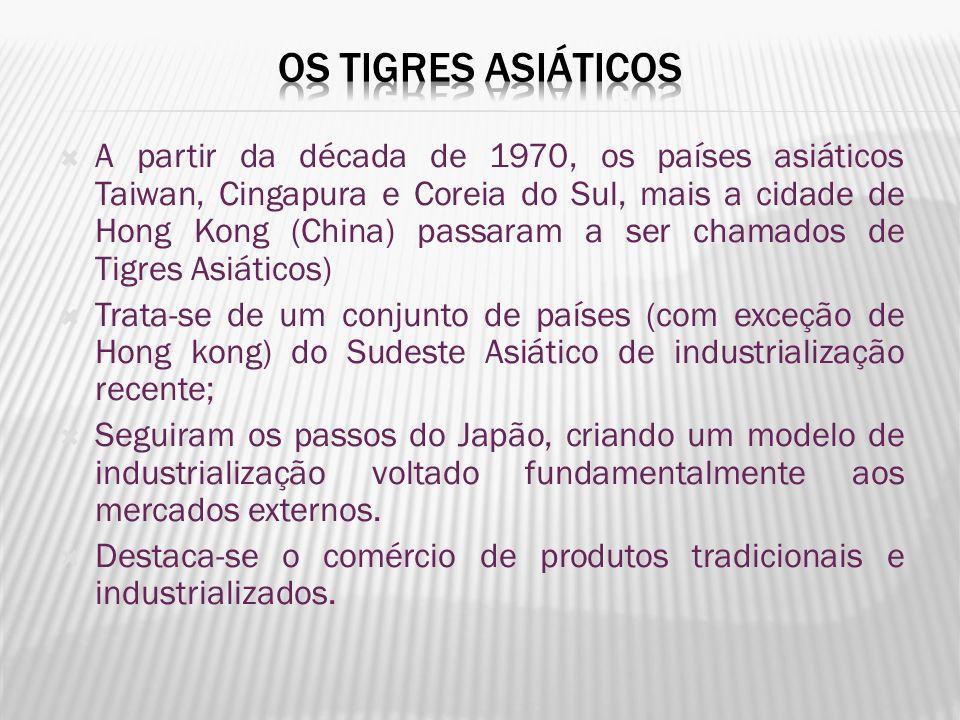 A partir da década de 1970, os países asiáticos Taiwan, Cingapura e Coreia do Sul, mais a cidade de Hong Kong (China) passaram a ser chamados de Tigre