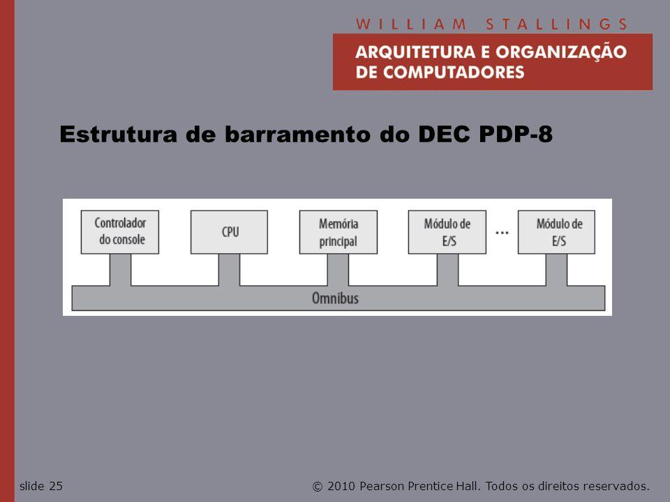 © 2010 Pearson Prentice Hall. Todos os direitos reservados.slide 25 Estrutura de barramento do DEC PDP-8