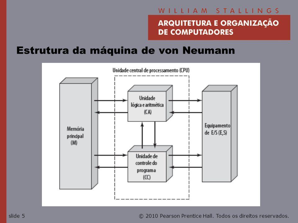 © 2010 Pearson Prentice Hall. Todos os direitos reservados.slide 5 Estrutura da máquina de von Neumann