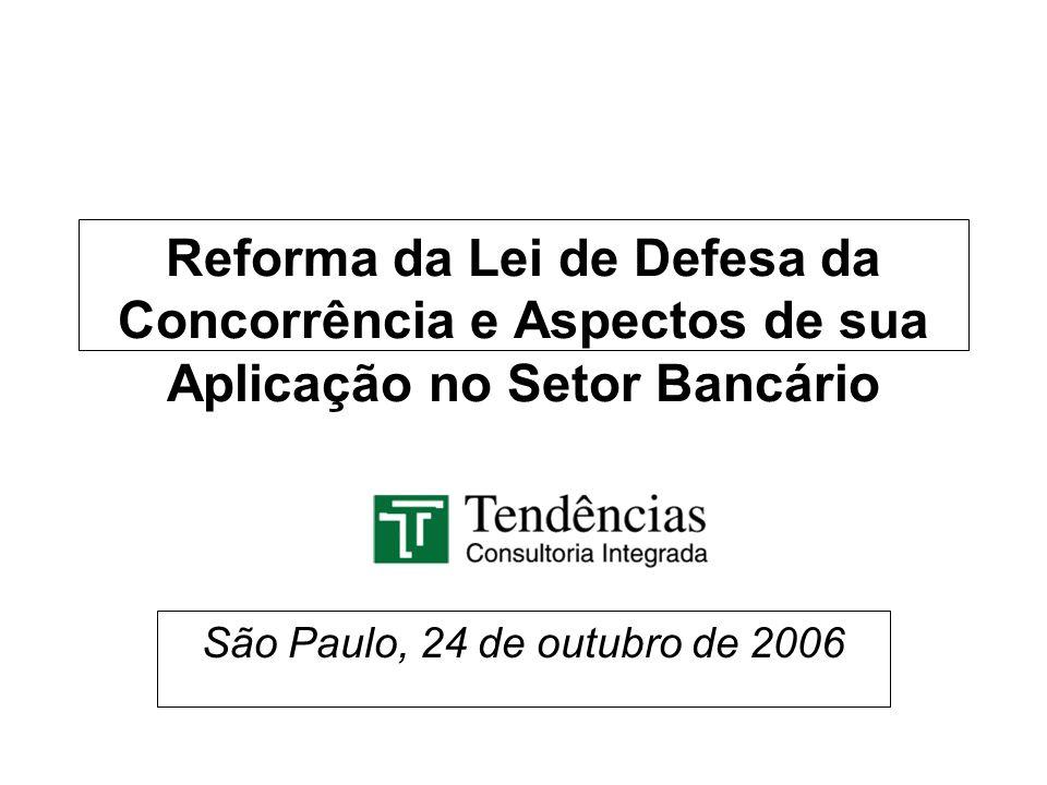Reforma da Lei de Defesa da Concorrência e Aspectos de sua Aplicação no Setor Bancário São Paulo, 24 de outubro de 2006