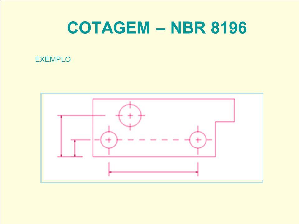COTAGEM – NBR 8196 EXEMPLO