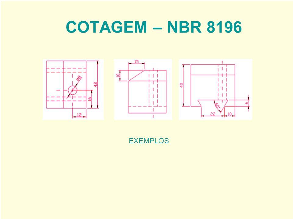 COTAGEM – NBR 8196 EXEMPLOS