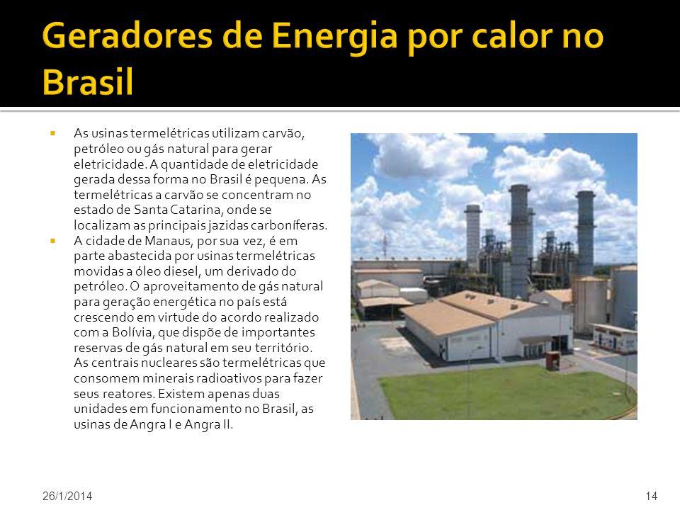 As usinas termelétricas utilizam carvão, petróleo ou gás natural para gerar eletricidade.