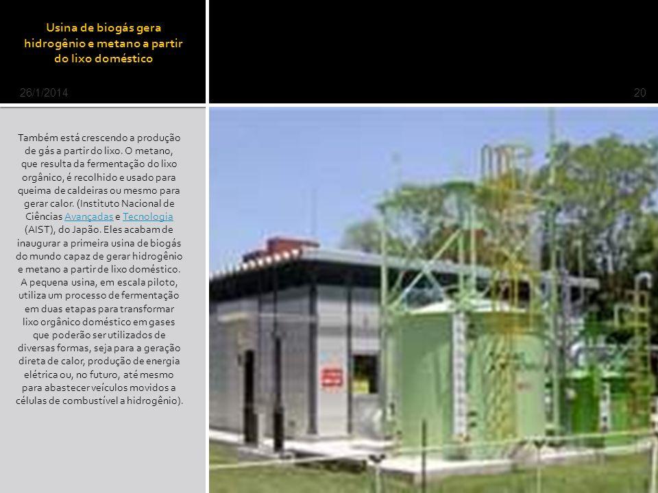 Usina de biogás gera hidrogênio e metano a partir do lixo doméstico Também está crescendo a produção de gás a partir do lixo.