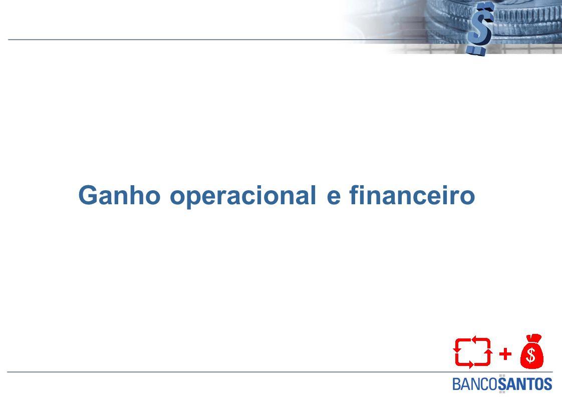 Ganho operacional e financeiro