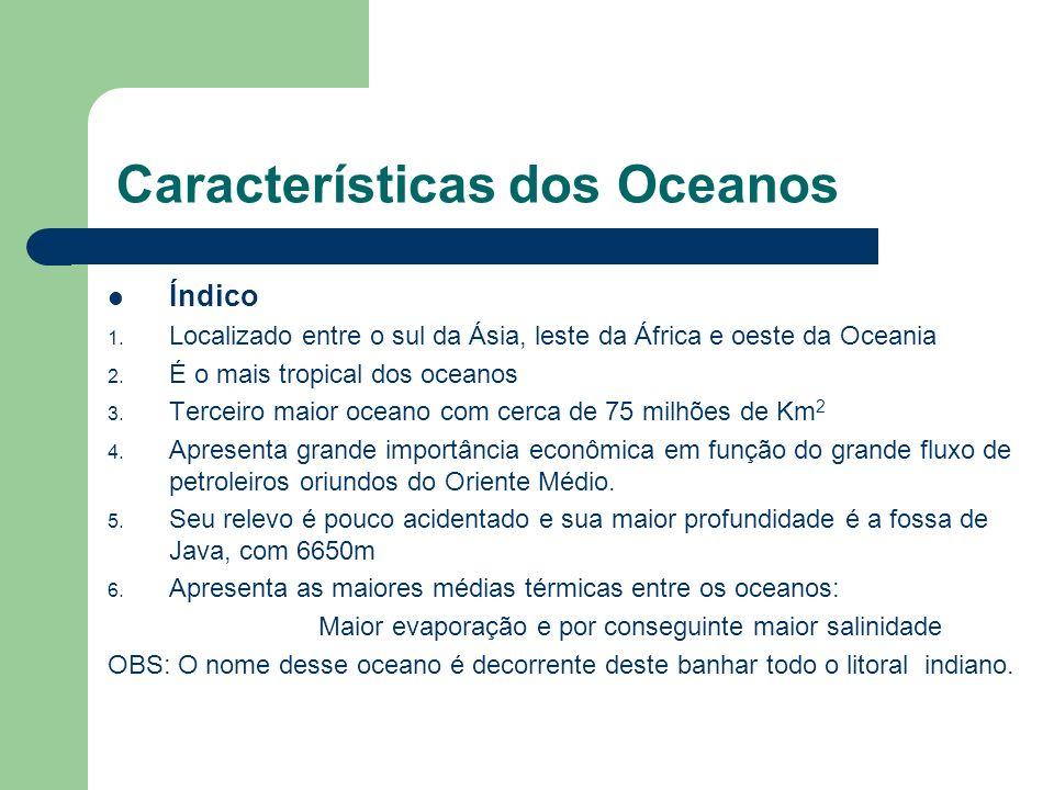 Características das águas oceânicas Densidade 1.