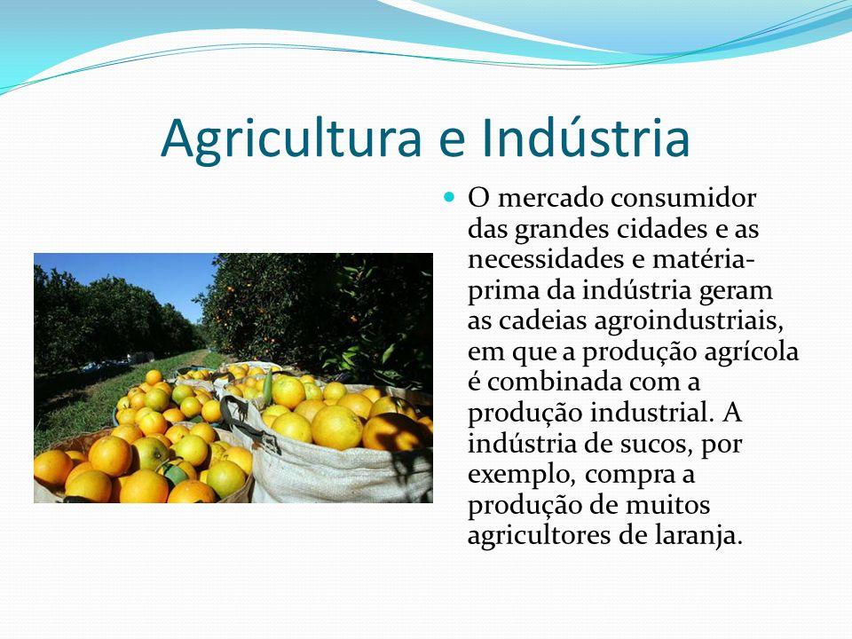 O uso das terras agrícolas A produção agroindustrial se distribui de modo desigual pela superfície.