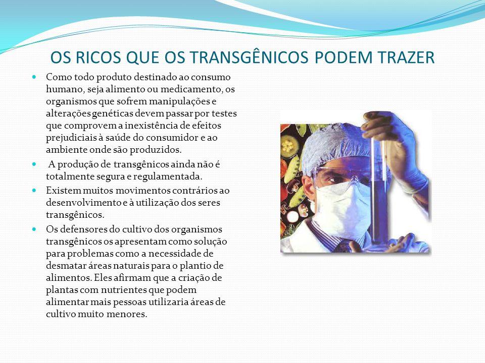 A ENGENHARIA GENÉTICA E A PRODUÇÃO DE TRANSGÊNICOS engenharia genética biotecnologia Com o desenvolvimento da tecnologia, em especial nas áreas de eng