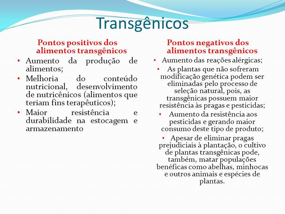 OS RICOS QUE OS TRANSGÊNICOS PODEM TRAZER Como todo produto destinado ao consumo humano, seja alimento ou medicamento, os organismos que sofrem manipu