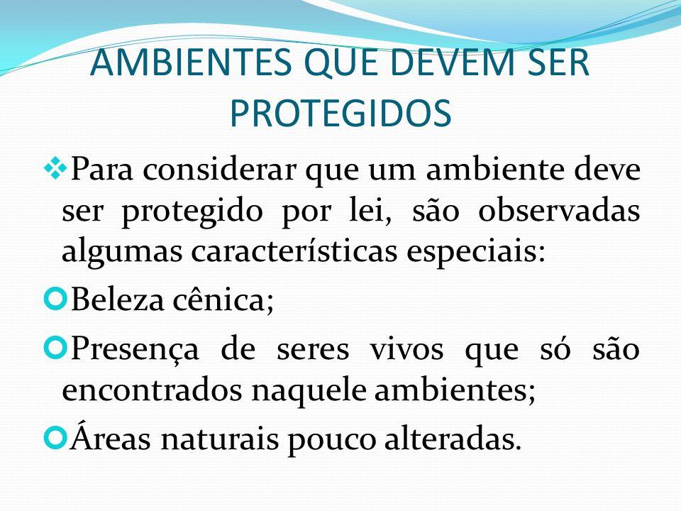 ÁREAS URBANAS PROTEGIDAS A figura mostra uma área protegida.