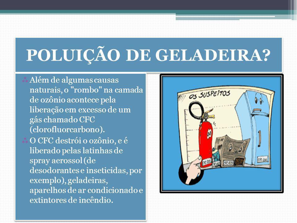 POLUIÇÃO DE GELADEIRA.