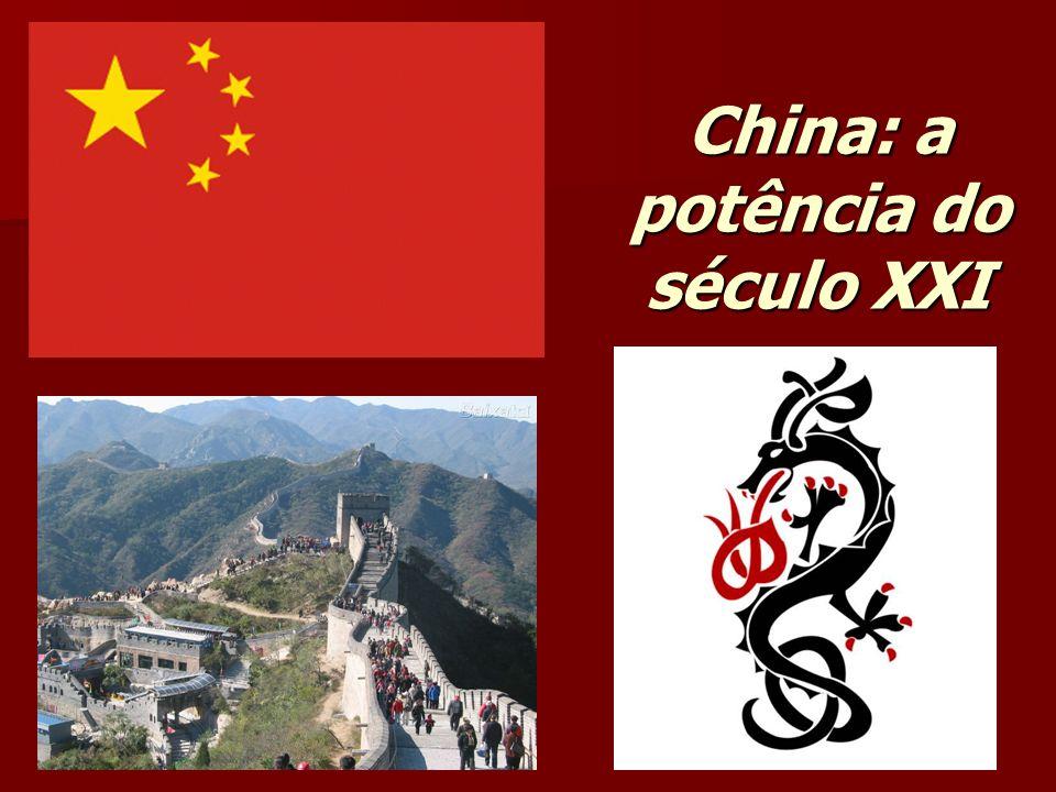China: o país do espetáculo do crescimento e os problemas atuais Desenvolvimento da nova China; Problemas atuais; Olimpíadas de Pequim; A questão do Tibete;