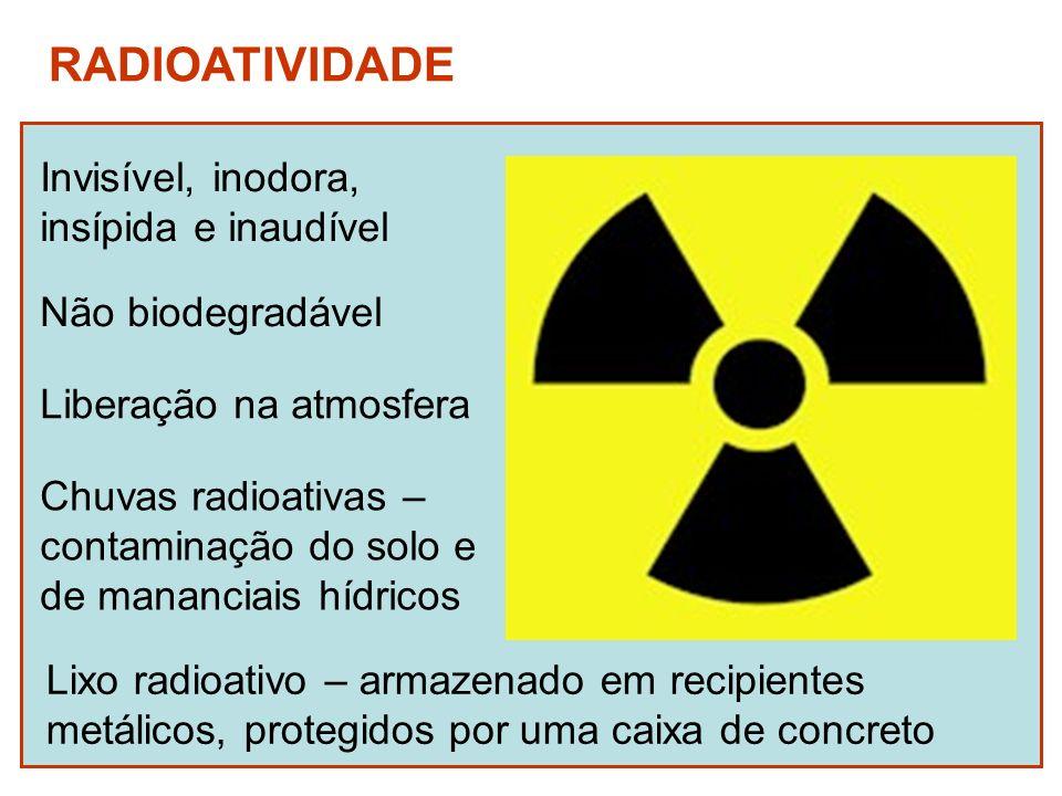 Os danos da radiação sobre os organismos e no ambiente depende: Da energia da radiação Do tempo de exposição Da dose absorvida Da parte do corpo atingida Da sensibilidade do organismo
