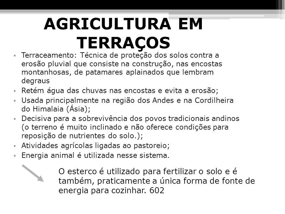 AGRICULTURA INDUSTRIALIZADA E IMPACTOS SOCIOECONÔMICOS Agricultura Industrializada: Que mais predomina no mundo; Alto custo: - investimento em biotecnologia; - emprego de máquinas agrícolas; - emprego de defensivos químicos; Também conhecida como: AGRICULTURA MECANIZADA; Os defensivos químicos funcionam como veneno; Grande número de investimento: financeiro e em combustíveis fósseis Mecanização desemprego;