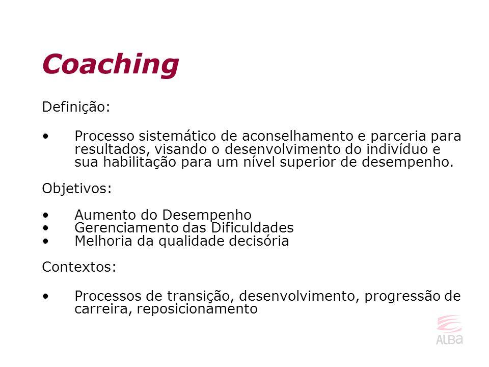 Definição: Processo sistemático de aconselhamento e parceria para resultados, visando o desenvolvimento do indivíduo e sua habilitação para um nível s