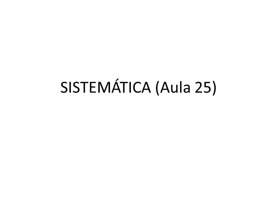 SISTEMÁTICA SISTEMÁTICA: RAMO DA BIOLOGIA QUE ESTUDA A CLASSIFICAÇÃO DOS SERES VIVOS, BASEADO NA FILOGÊNESE (EVOLUÇÃO)