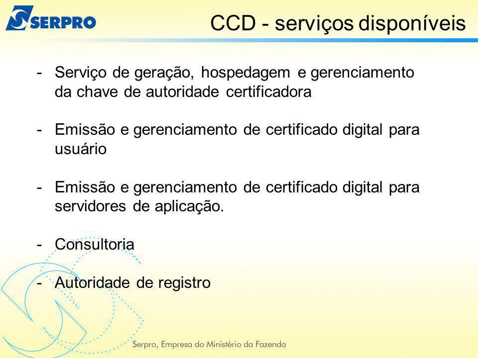 -Serviço de geração, hospedagem e gerenciamento da chave de autoridade certificadora -Emissão e gerenciamento de certificado digital para usuário -Emi