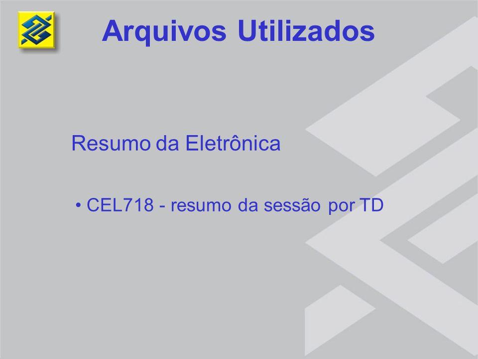 Resumo da Eletrônica CEL718 - resumo da sessão por TD Arquivos Utilizados