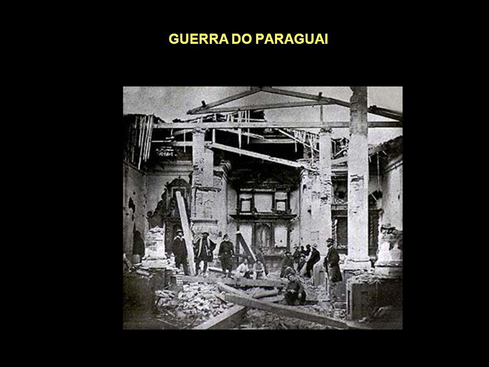 GUERRA DO PARAGUAI (1864-1870) Durante a segunda metade do século XIX, no governo de Solano Lopes, o Paraguai vinha se industrializando e se expandind