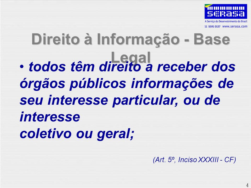 5 Ausência de informação Art.