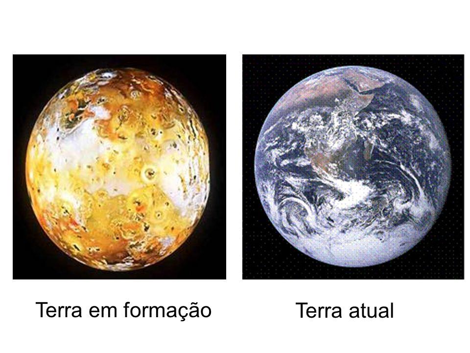 Terra em formação Terra atual