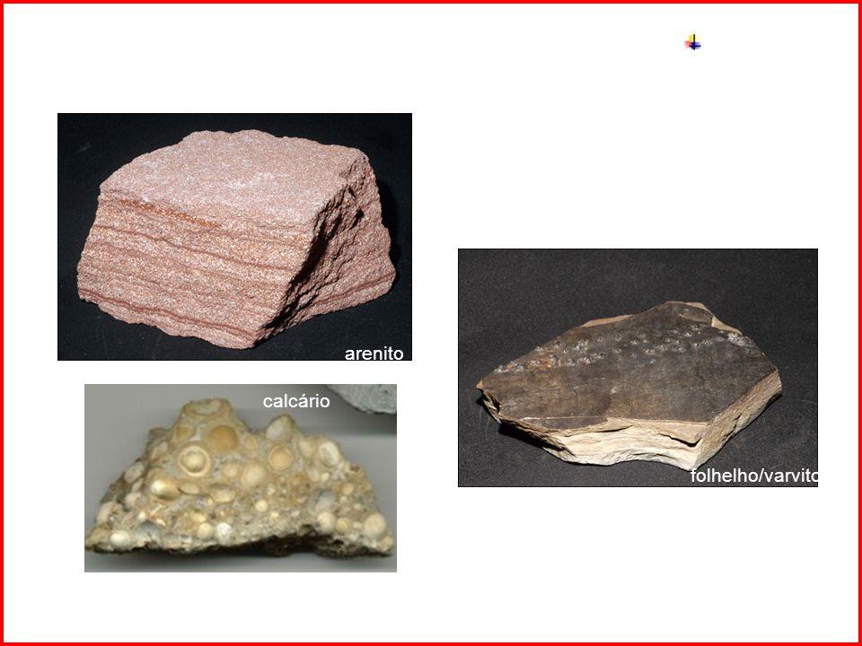 Intemperismo arenito folhelho/varvito calcário