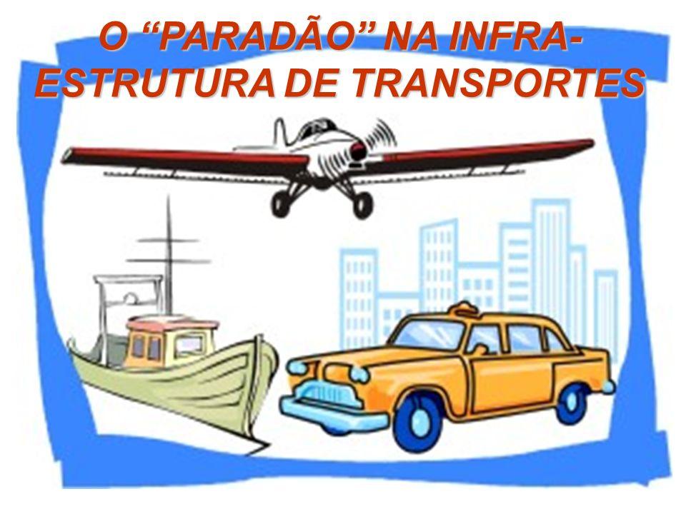 O PARADÃO NA INFRA- ESTRUTURA DE TRANSPORTES