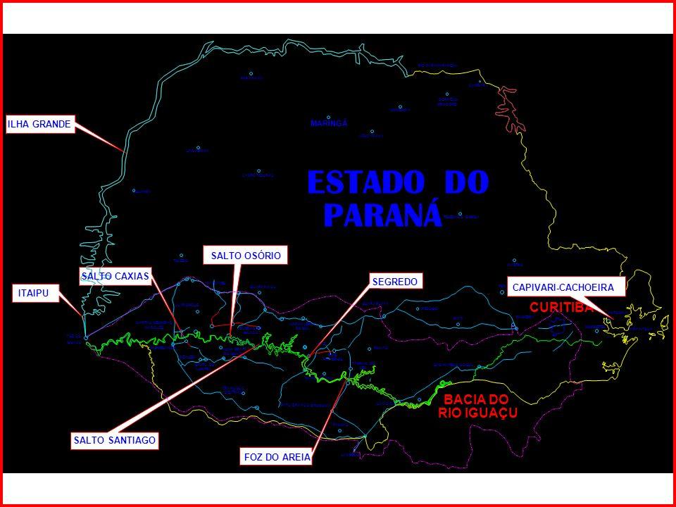 PARANAVAÍ MARINGÁ LONDRINA CORNÉLIO PROCÓPIO APUCARANA UMUARAMA CAMPO MOURÃO GUAâRA TOLEDO CASTRO TELÊMACO BORBA MORRETES ANTONINA PARANAGUÁ CAMBARA FOZ DO IGUAÇU ESTADO DO PARANÁ RIO PARANAPANEMA CASCAVEL CAPITÃO LEÔNIDAS MARQUES NOVA PRATA DO IGUAÇU REALEZA PATO BRANCO LARANJEIRAS DO SUL GUARANIAÇU PAZ MANGUEIRINHA PINHÃO GUARAPUAVA RELÓGIO IRATI SÃO MATEUS DO SUL UNIÃO DA VITÓRIA PALMEIRA PONTA GROSSA CURITIBA PALMAS JUVINÓPOLIS FRANCISCO BELTRÃO QUEDAS DO IGUAÇU CHAPECÓ MARMELÂNDIA SALTO DO LONTRA FAXINAL DO CÉU BITURUNA DOIS PINHEIROS BACIA DO RIO IGUAÇU CAPIVARI-CACHOEIRA SEGREDO FOZ DO AREIA SALTO OSÓRIO SALTO CAXIAS SALTO SANTIAGO ILHA GRANDE ITAIPU