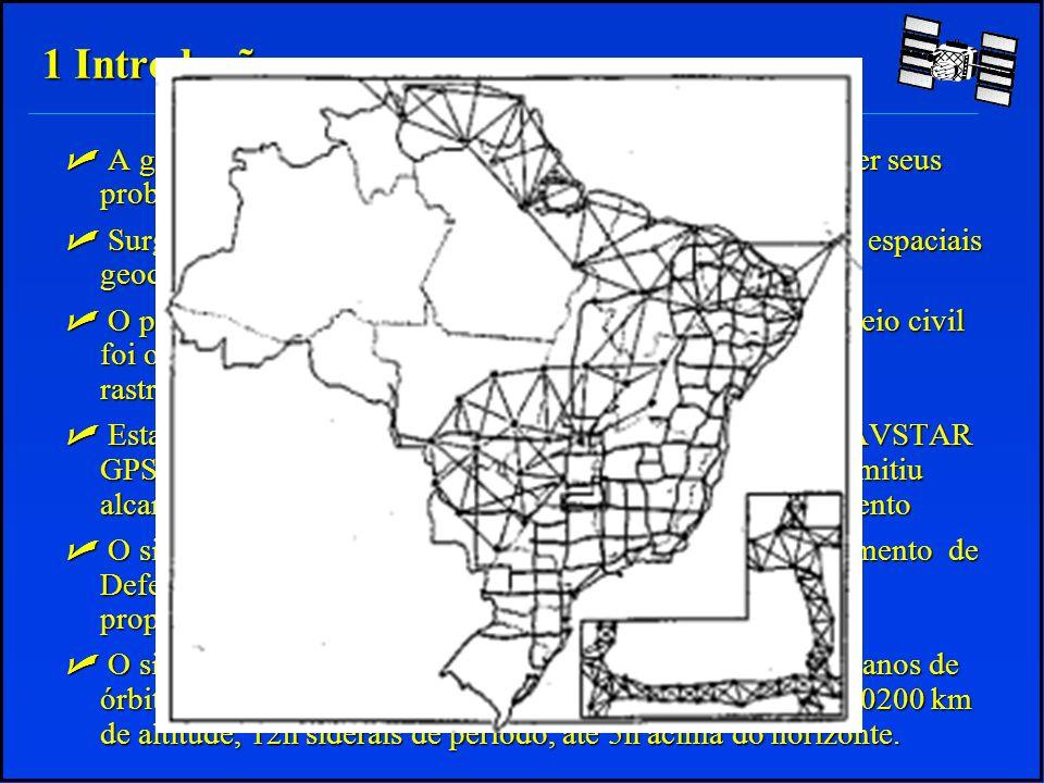 - A Disponibilidade Seletiva Selective Availability (S/A) - Degradação do Código C/A: Até 02/05/2000 erro +/-100m Após 02/05/2000 erro +/-15m 2 Funcionamento do sistema 2.6 Principais Erros do Sistema GPS