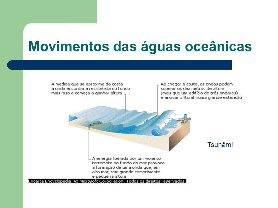Movimentos das águas oceânicas Tsunâmi