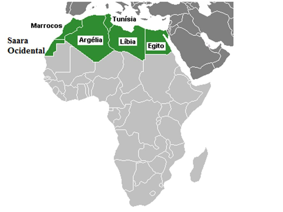 A África Branca é marcada pelo predomínio de população de origem árabe e branca, que África Branca ocupam a região desde o século VII com a expansão do islamismo.