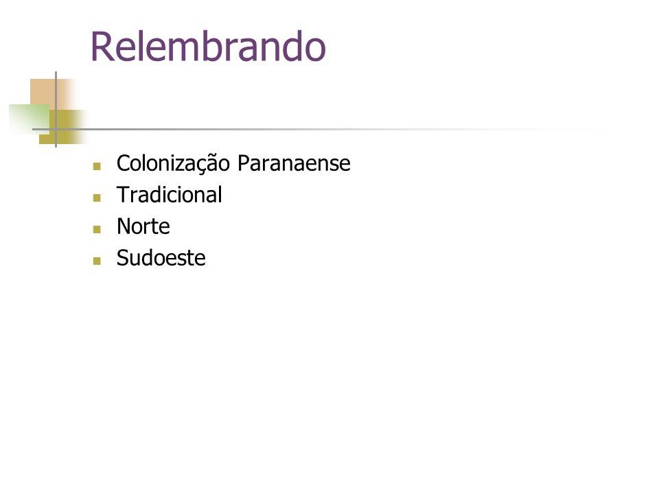 Frente Tradicional Ocorreu no início do século XVIII,acompanhando o processo de desenvolvimento do Paraná,ocorrendo no litoral e campos gerais,os personagens envolvidos foram os portugueses e espanhóis,devido as Sesmarias e Tratado de Tordesilhas.