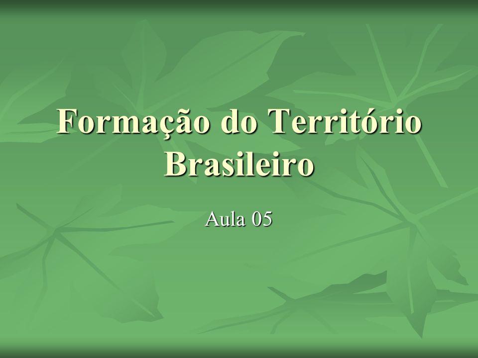 Formação do Território Brasileiro Aula 05