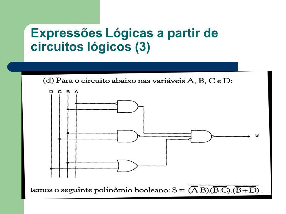 Expressões Lógicas a partir de circuitos lógicos (3)