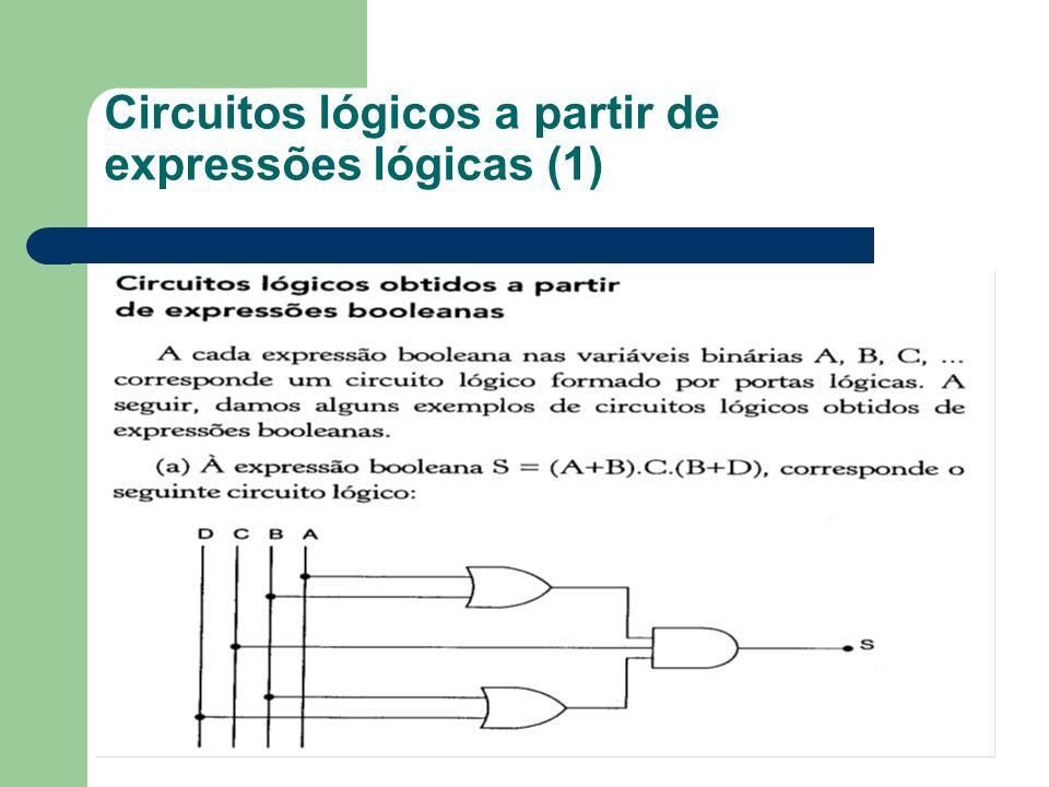Circuitos lógicos a partir de expressões lógicas (1)