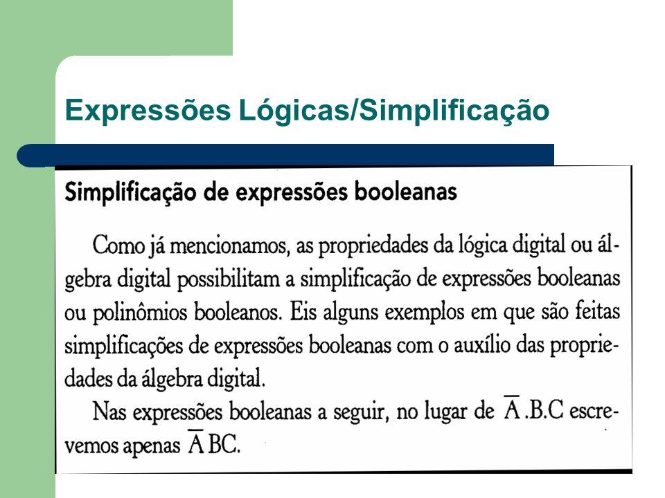 Expressões Lógicas/Simplificação