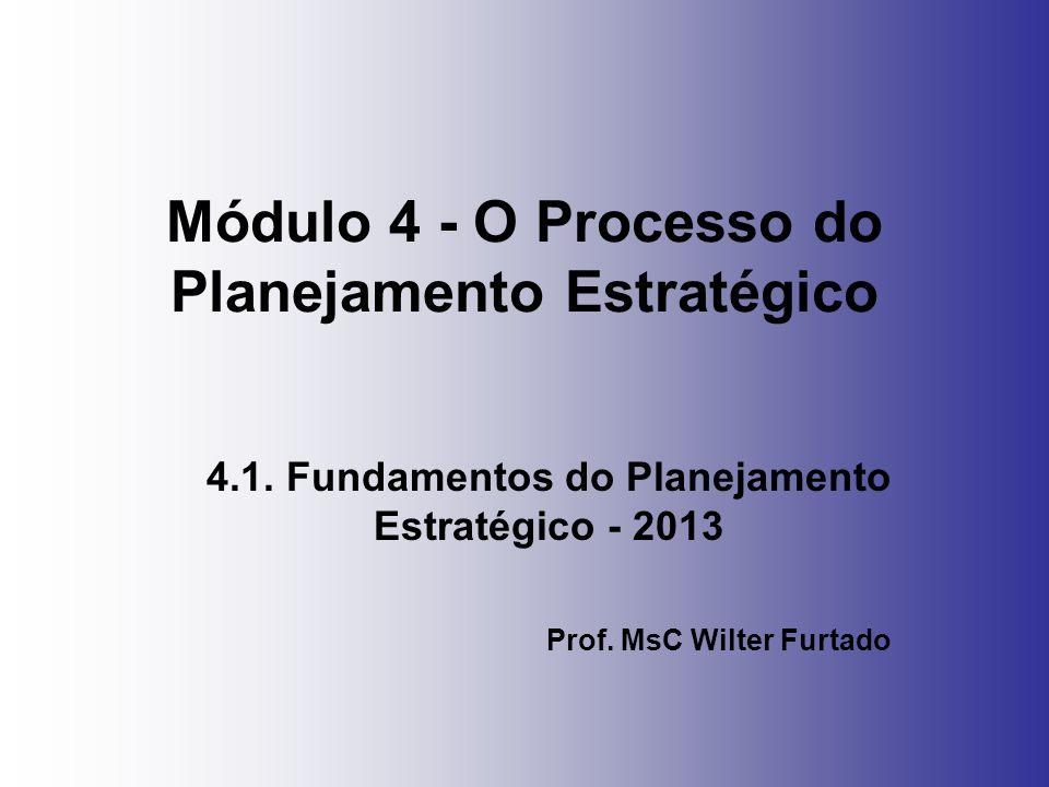 Módulo 4 - O Processo do Planejamento Estratégico 4.1. Fundamentos do Planejamento Estratégico - 2013 Prof. MsC Wilter Furtado