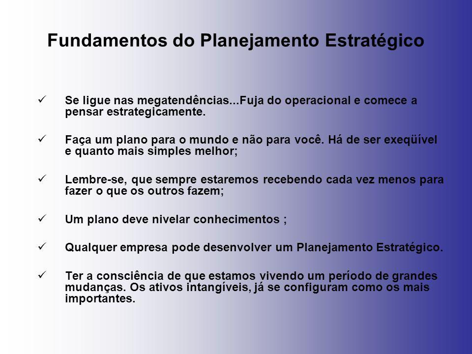 Fundamentos do Planejamento Estratégico Se ligue nas megatendências...Fuja do operacional e comece a pensar estrategicamente. Faça um plano para o mun