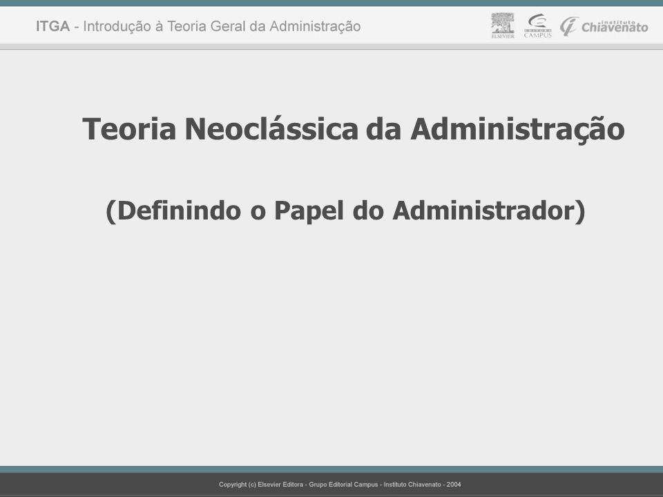 Teoria Neoclássica da Administração (Definindo o Papel do Administrador)